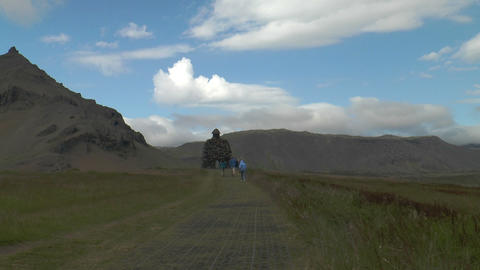 landscape at snaefellsjoekull in iceland Stock Video Footage