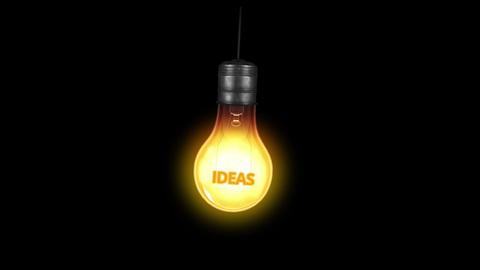 Ideas Light Bulb Stock Video Footage