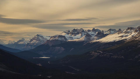 Sunset light on Canadian Rockie Stock Video Footage