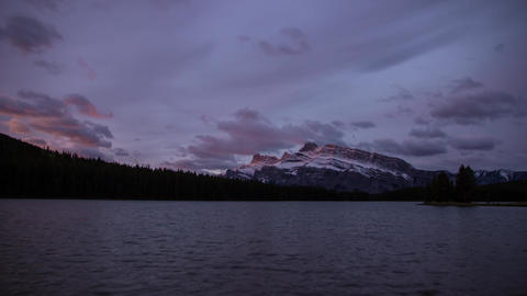 Two Jack Lakes morning lights Footage