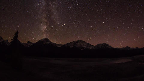 Night view of Milky way Stock Video Footage