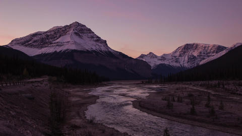 Sunrise lights shinning on mountain top Stock Video Footage