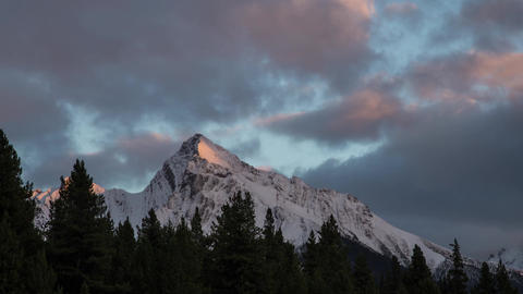 Sunset light shinning on Mountain clip 02 Stock Video Footage