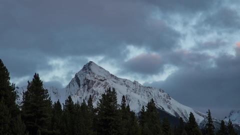 Sunset light shinning on Mountain clip 02 Footage