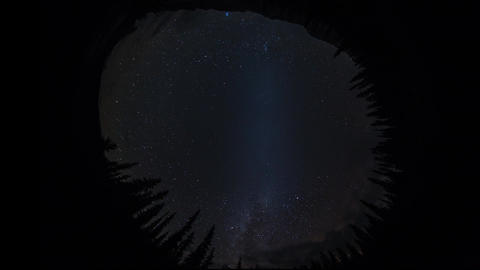 Fish eye view of milky way covering by fog Stock Video Footage