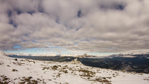 Cloudy day up on Whistlers Mountain Stock Video Footage