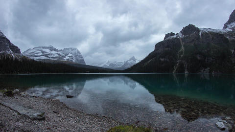 Twilight clouds at Lake O'Hara Stock Video Footage