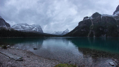 Twilight clouds at Lake O'Hara Footage