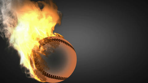 burning baseball ball Animation