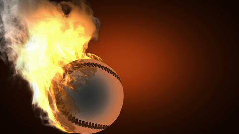 burning baseball ball Stock Video Footage