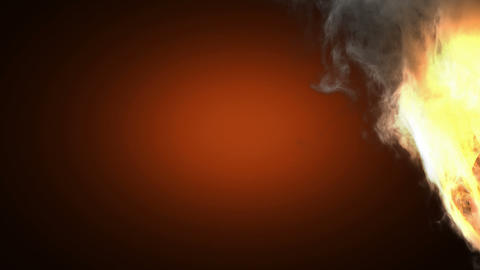 burning baseball ball Stock Video Footage