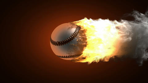 burning baseball ball Animation