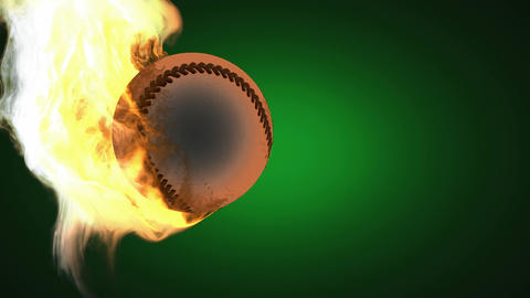 burning baseball ball. Alpha matted Animation