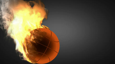 burning basketball ball Stock Video Footage