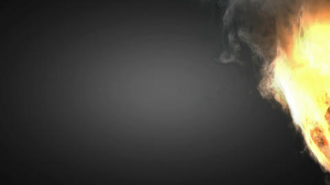 burning basketball ball Stock Video Footage