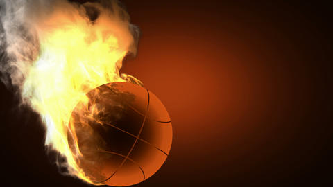 burning basketball ball Animation