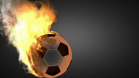 burning soccer ball Animation
