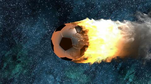 burning soccer ball Animation