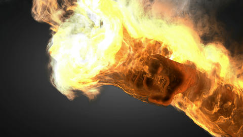 burning fist. Alpha matted Animation
