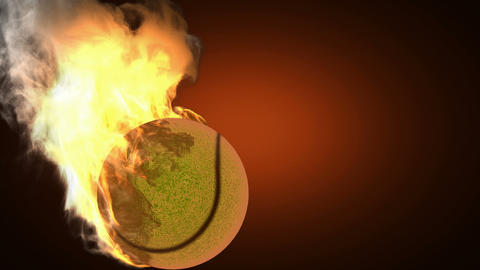 burning tennis ball Animation