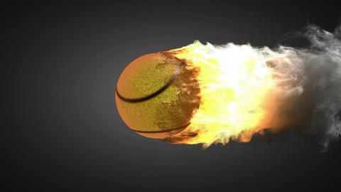 burning tennis ball Animation