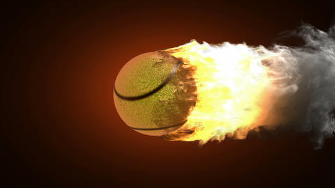 burning tennis ball Stock Video Footage