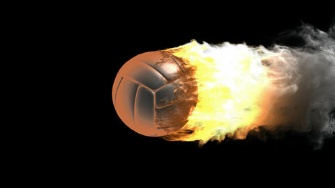 burning volleyball ball Animation