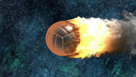 burning volleyball ball Animation