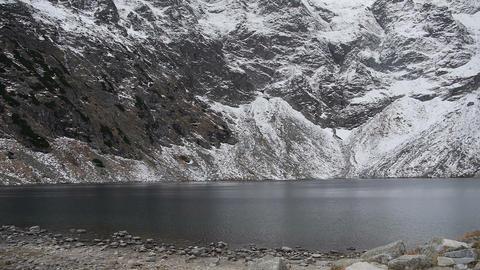 Lake between the rocks Stock Video Footage