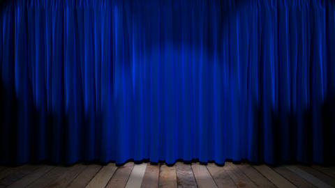 Loop light on blue fabric curtain Stock Video Footage
