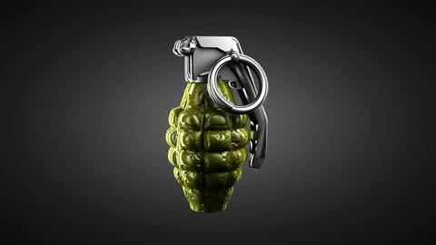 Loop rotating grenade. Alpha matted Stock Video Footage