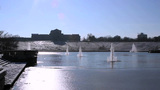 Art Hill In Winter - St. Louis, Missouri stock footage