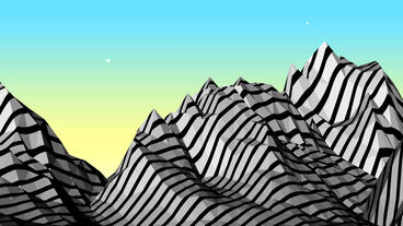 Mountain with zebra pattern,Dream hills in Science Stock Video Footage