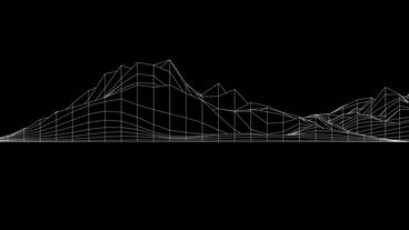 Abstract fluctuations grid lines art,vibrating musical... Stock Video Footage