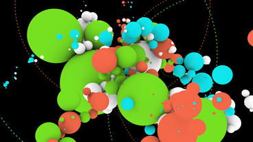 sci-fi color balls,music background,tech digital geometry... Stock Video Footage