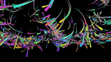 Color dynamic colored ribbon lines & Abstract Art... Stock Video Footage