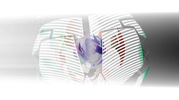 sci-fi ribbon surround metal tech digital ball &... Stock Video Footage