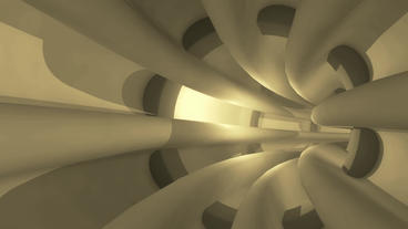 flying in sci-fi metal pipeline tunnel Stock Video Footage