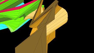 flow rainbow mesh ribbon waves Stock Video Footage