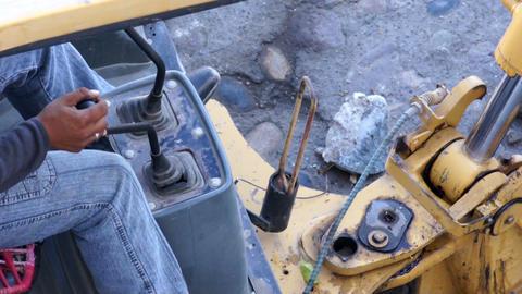 Construction Excavator Stock Video Footage