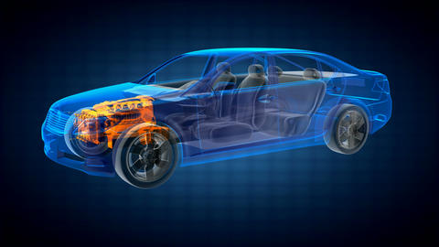 transparent car concept Stock Video Footage