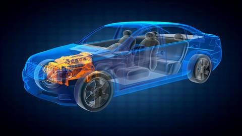 transparent car concept Animation