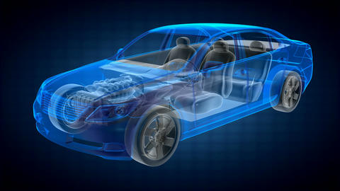 transparent car concept Stock Video Footage