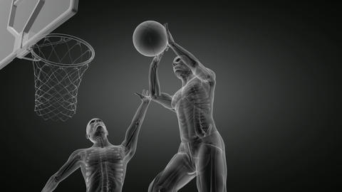 Basketball Game Player stock footage