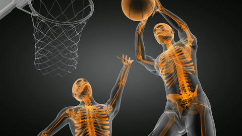 basketball game player Stock Video Footage