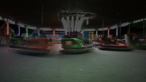 Fair Bumper Cars Fast Time-lapse Stock Video Footage