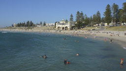 People Swimming at Cottesloe Beach, Perth Stock Video Footage