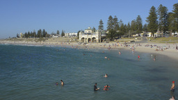 People Swimming at Cottesloe Beach, Perth Footage