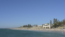 Cottesloe Beach in Perth During Summer Stock Video Footage
