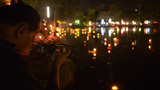 Thai Family Praying During Loi Krathong Festival i Footage